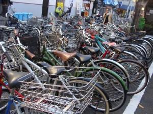 Bikes in a 'bike lot'